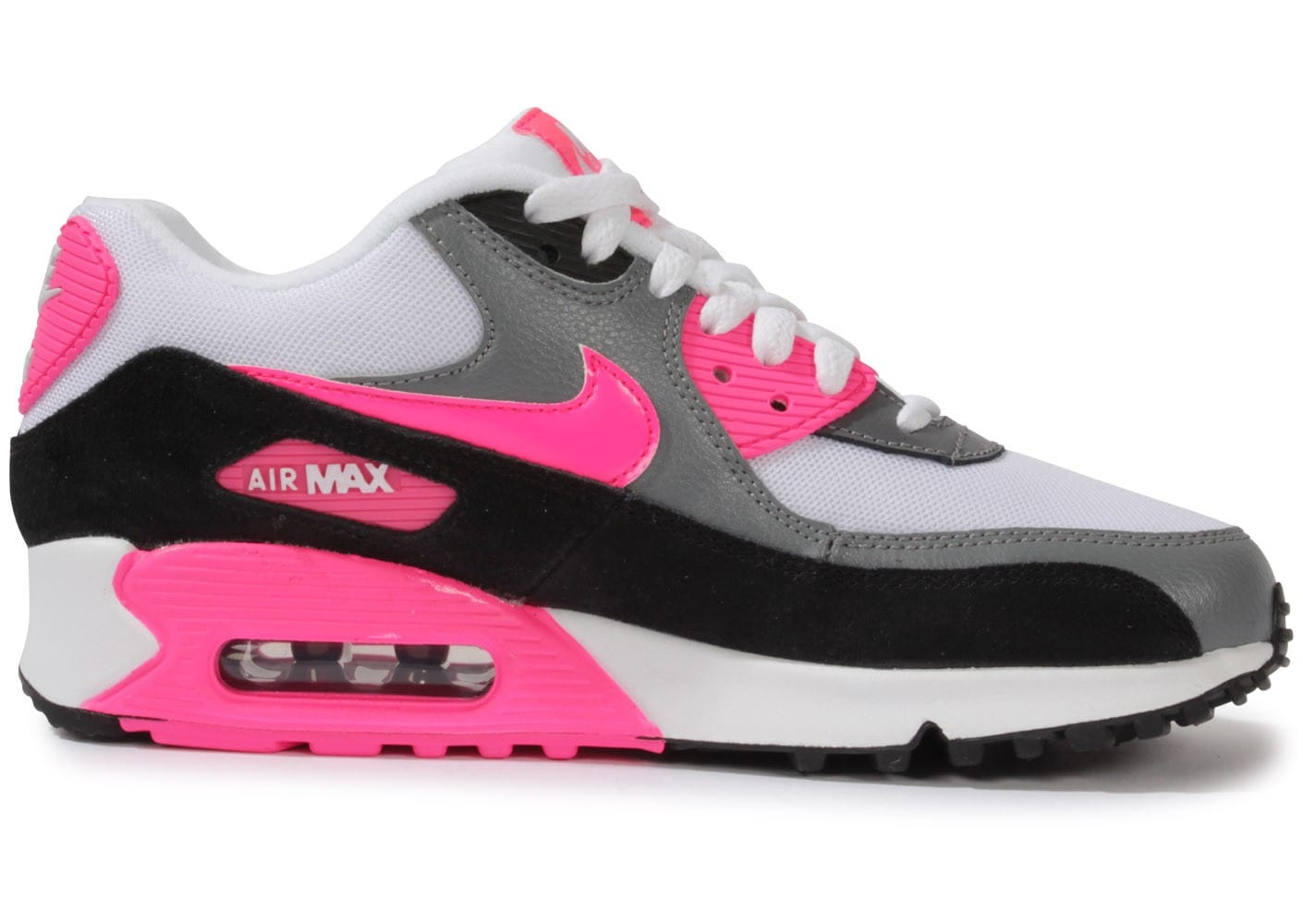 new product 3153e c0b18 Nike Air Max 90 Essential Blanche Rose - Chaussures .