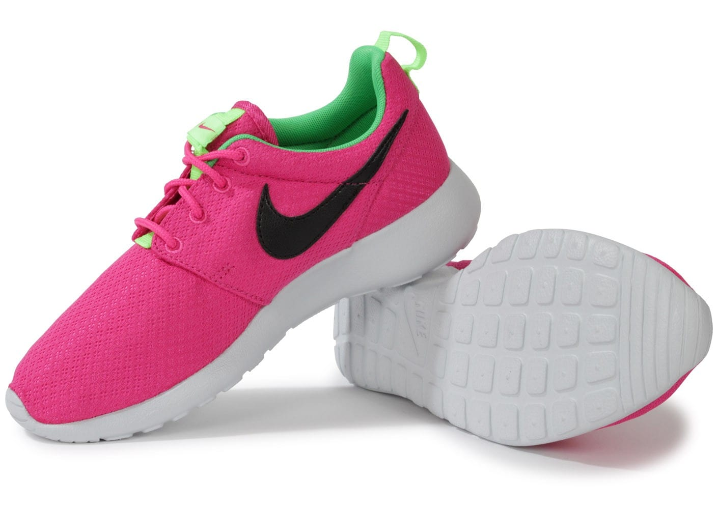 nike roshe run junior rose chaussures chaussures chausport. Black Bedroom Furniture Sets. Home Design Ideas