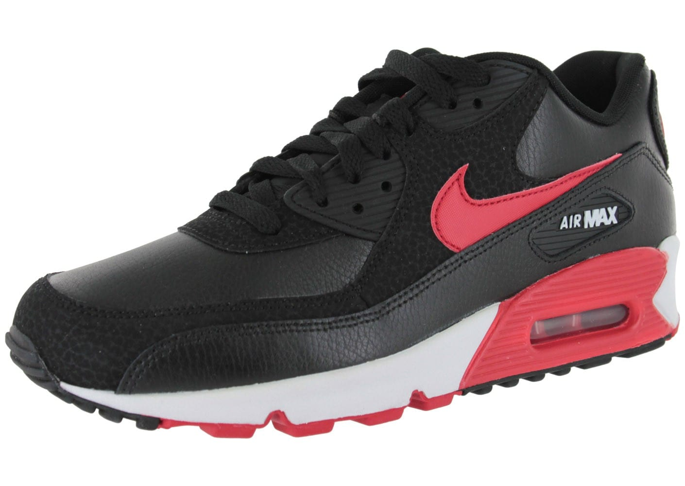 nike air max 90 cuir noire chaussures homme chausport. Black Bedroom Furniture Sets. Home Design Ideas