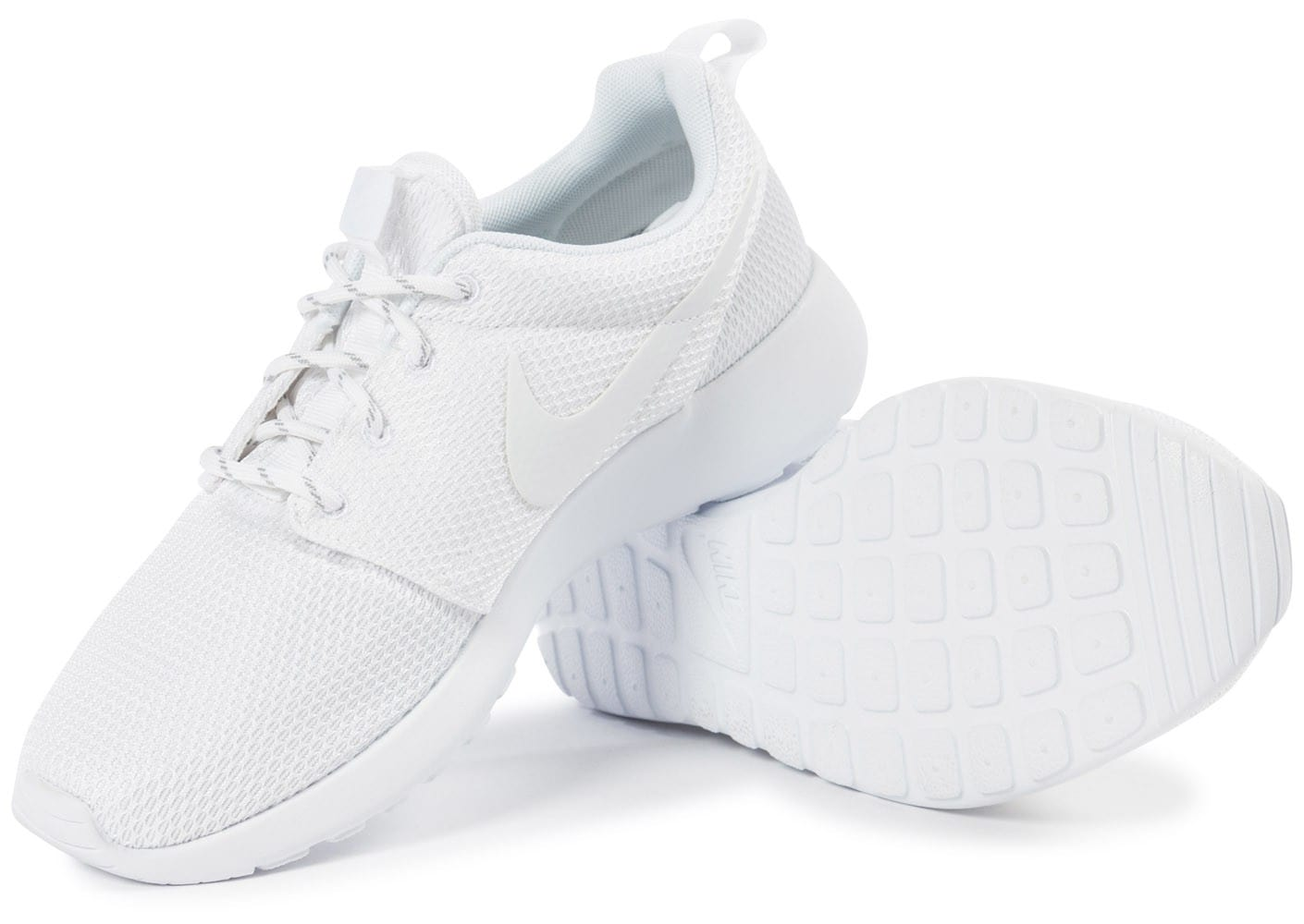 quality design 897ff c46e6 Chaussures Nike Roshe One Triple blanc vue intérieure .