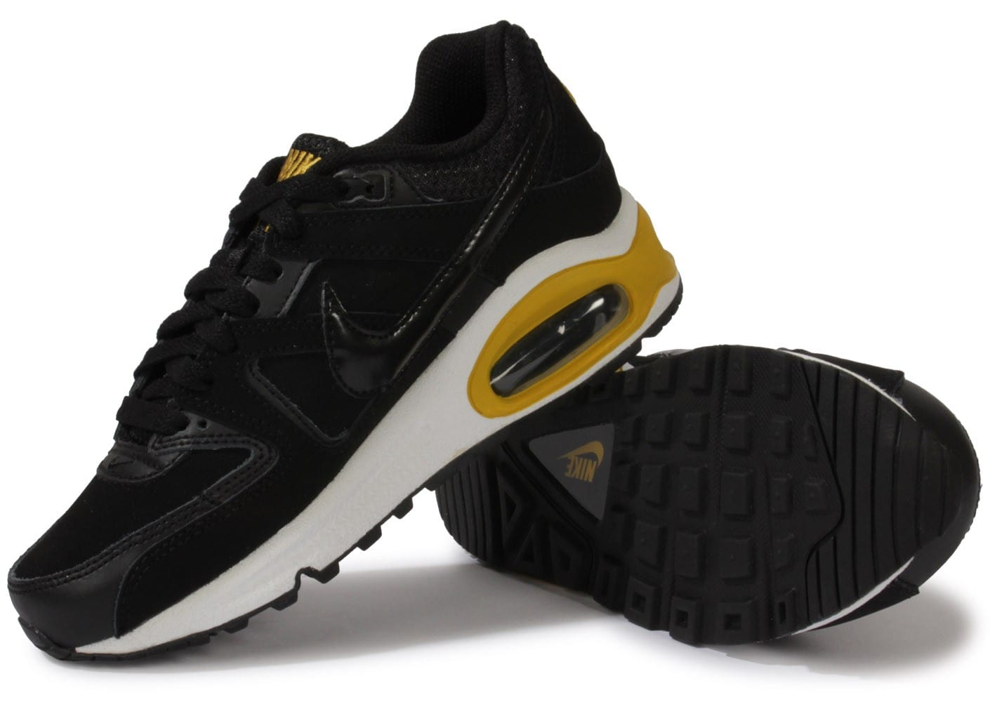 info for 1a6d9 f5221 chaussures nike air max command junior noir or vue dessous semelle