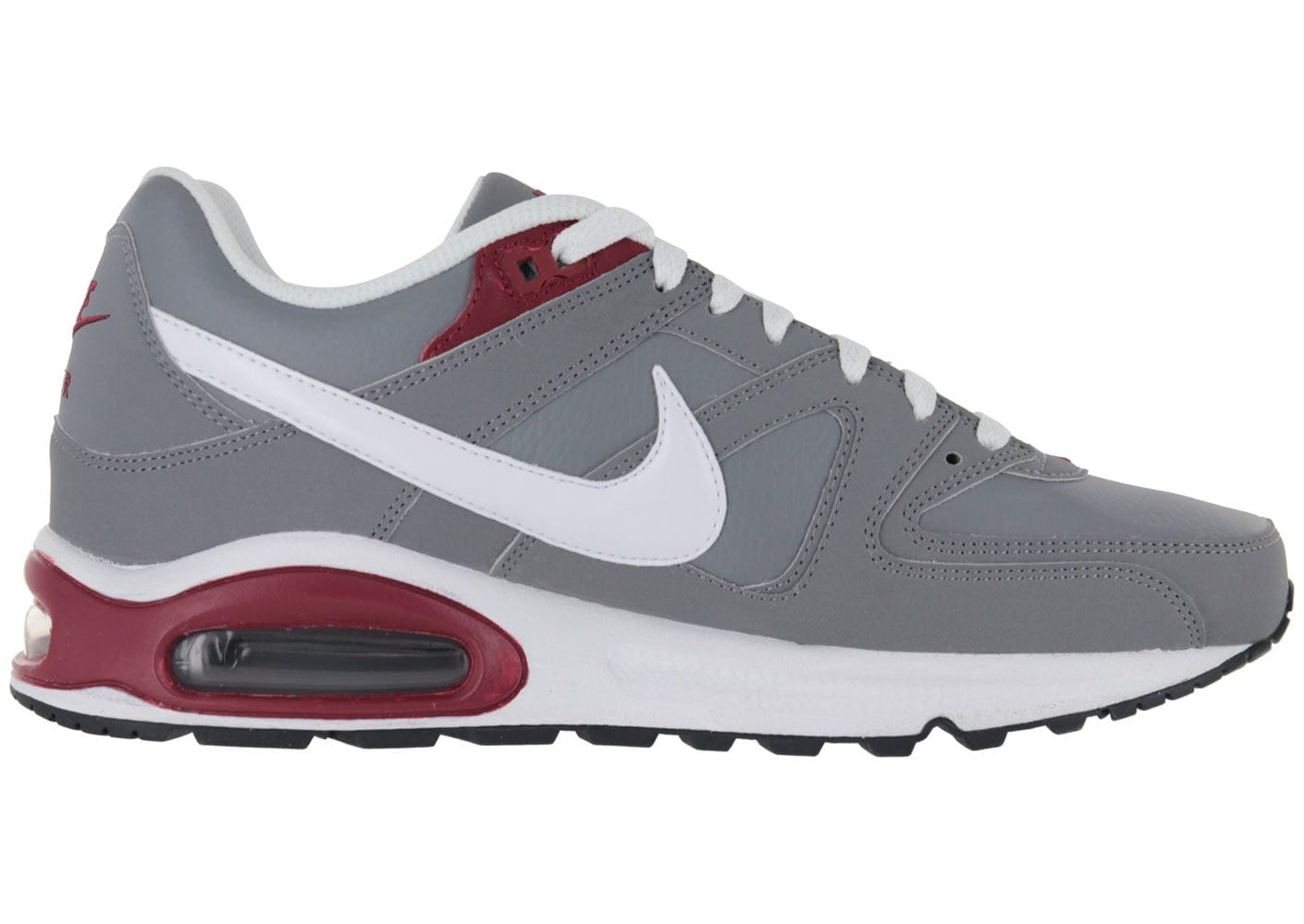 nike air max command cuir grise chaussures baskets homme chausport. Black Bedroom Furniture Sets. Home Design Ideas