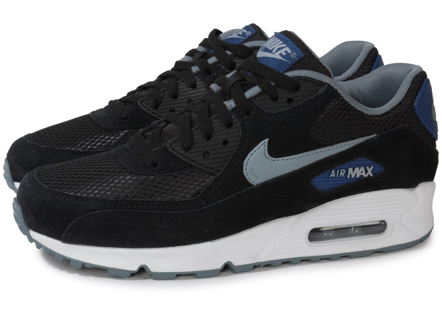 nike air max 90 essential noire chaussures homme chausport. Black Bedroom Furniture Sets. Home Design Ideas