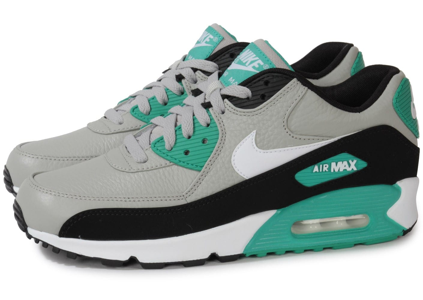 nike air max 90 leather grise chaussures homme chausport. Black Bedroom Furniture Sets. Home Design Ideas