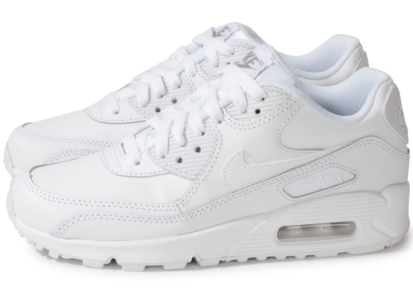 nike air max 90 triple blanc chaussures chaussures chausport. Black Bedroom Furniture Sets. Home Design Ideas