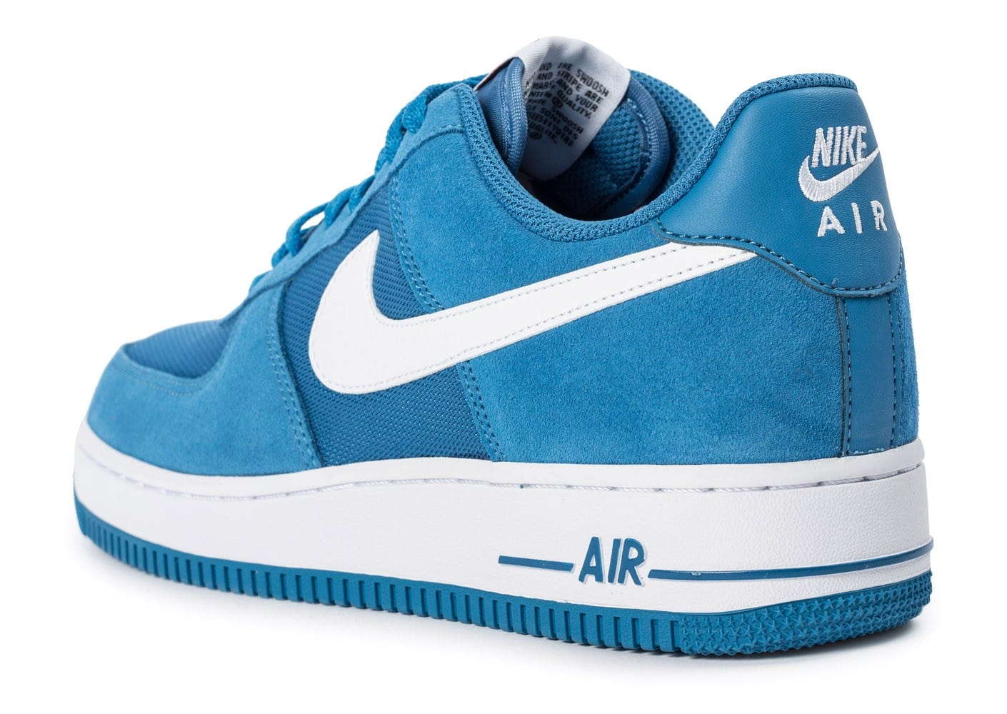 ... Chaussures Nike Air Force 1 Suede bleue vue arrière ...