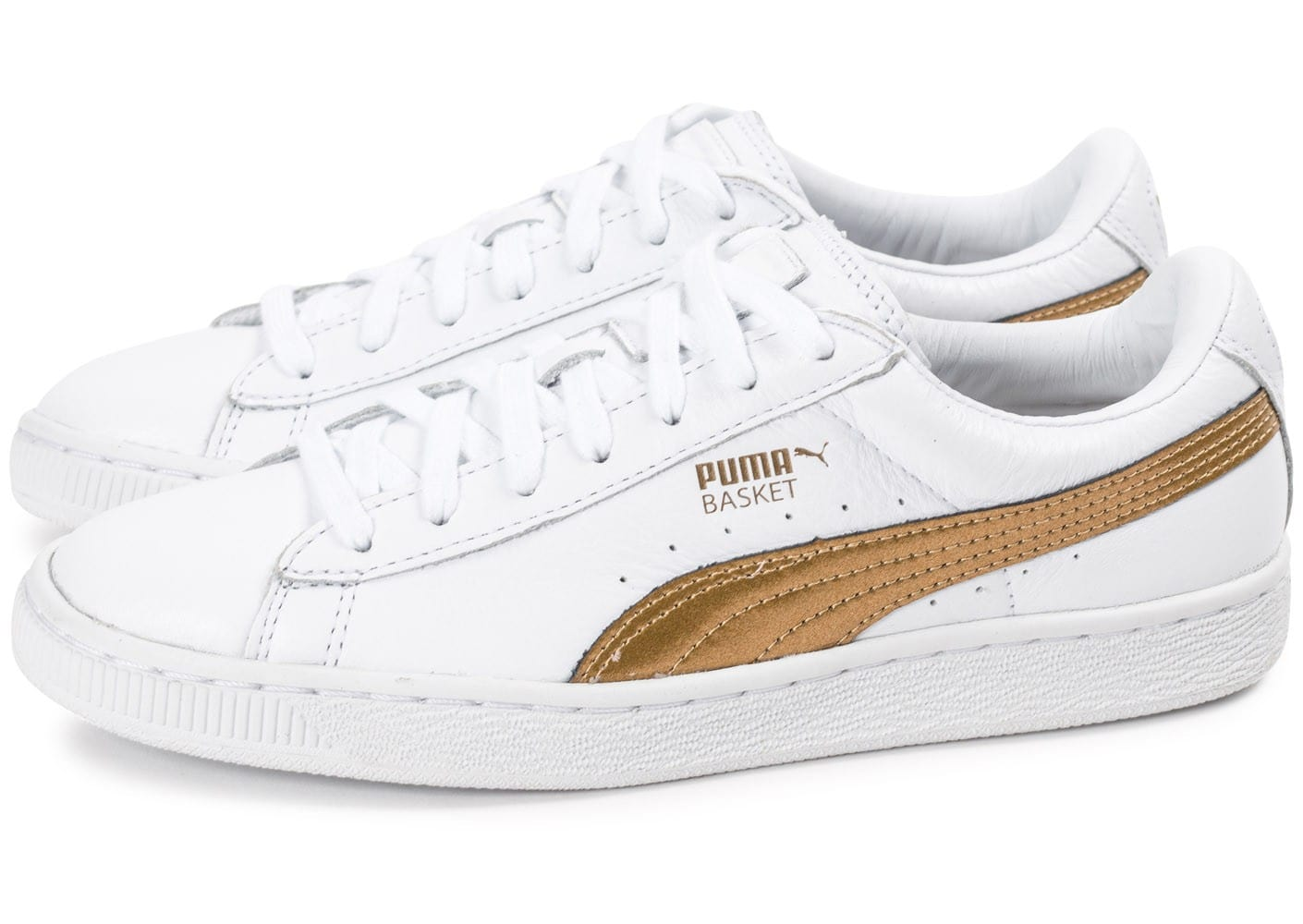 puma blanche et or