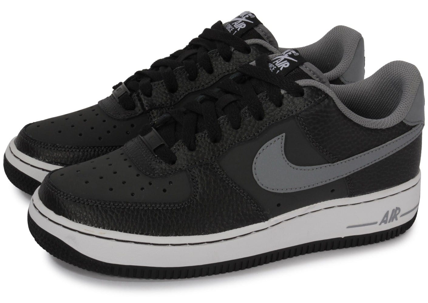 nike air force 1 noire et grise chaussures chaussures chausport. Black Bedroom Furniture Sets. Home Design Ideas