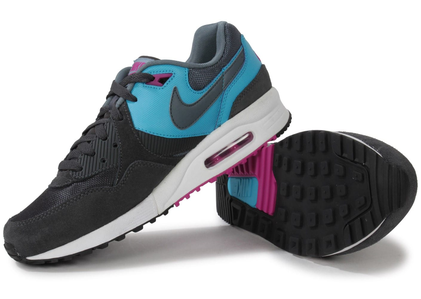 nike air max light grise et bleue chaussures homme chausport. Black Bedroom Furniture Sets. Home Design Ideas