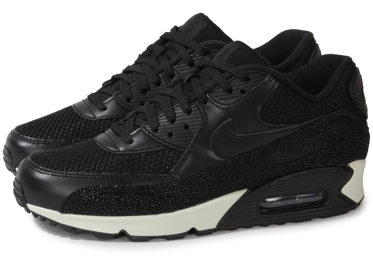 nike air max 90 leather stingray noire chaussures homme chausport. Black Bedroom Furniture Sets. Home Design Ideas