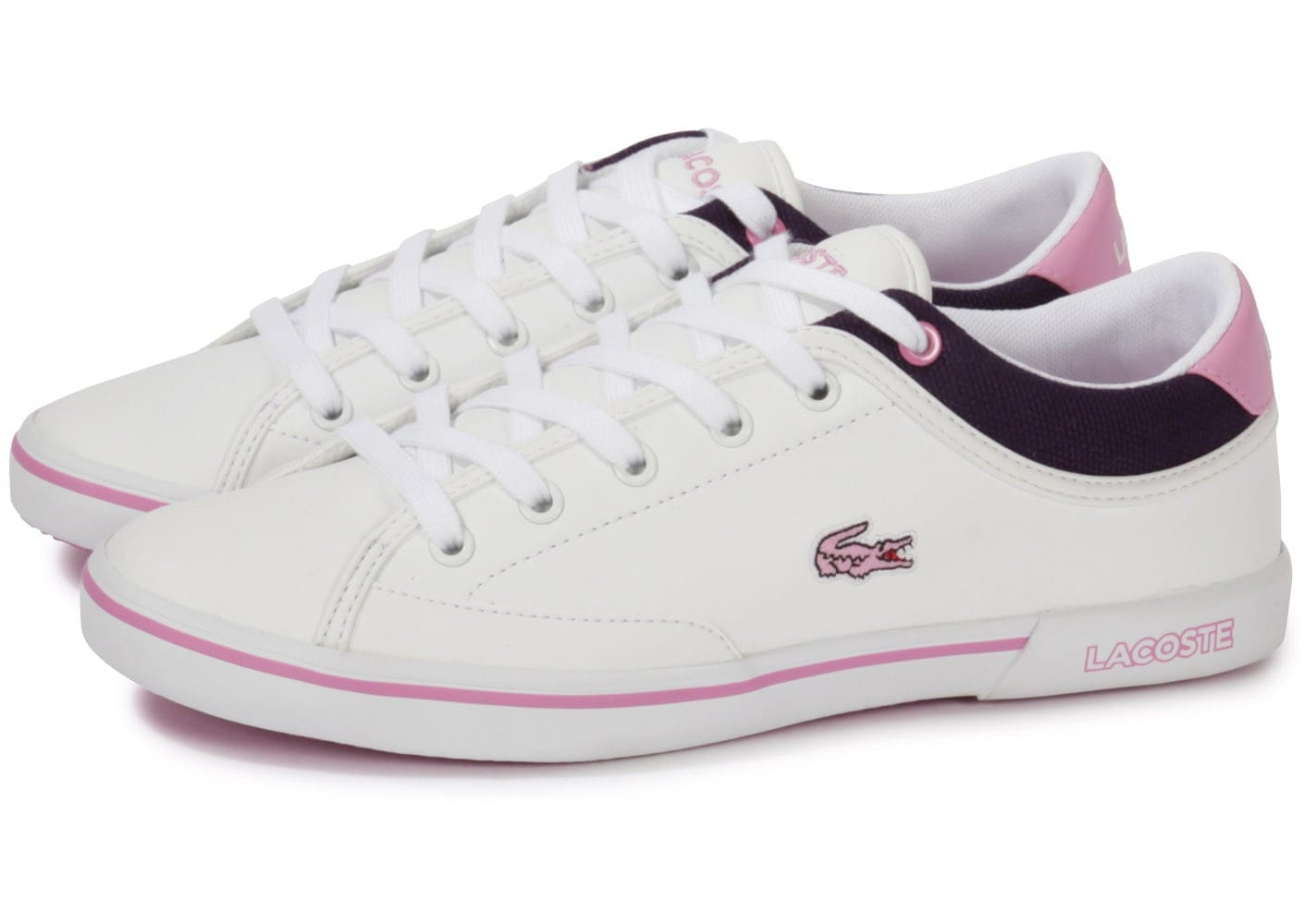 lacoste angha junior blanche chaussures chaussures chausport. Black Bedroom Furniture Sets. Home Design Ideas