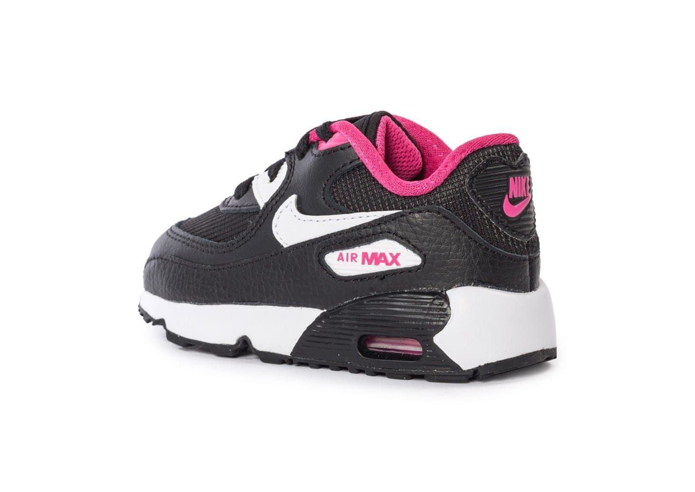 nike air max 90 mesh b b noire et rose chaussures toutes les baskets sold es chausport. Black Bedroom Furniture Sets. Home Design Ideas