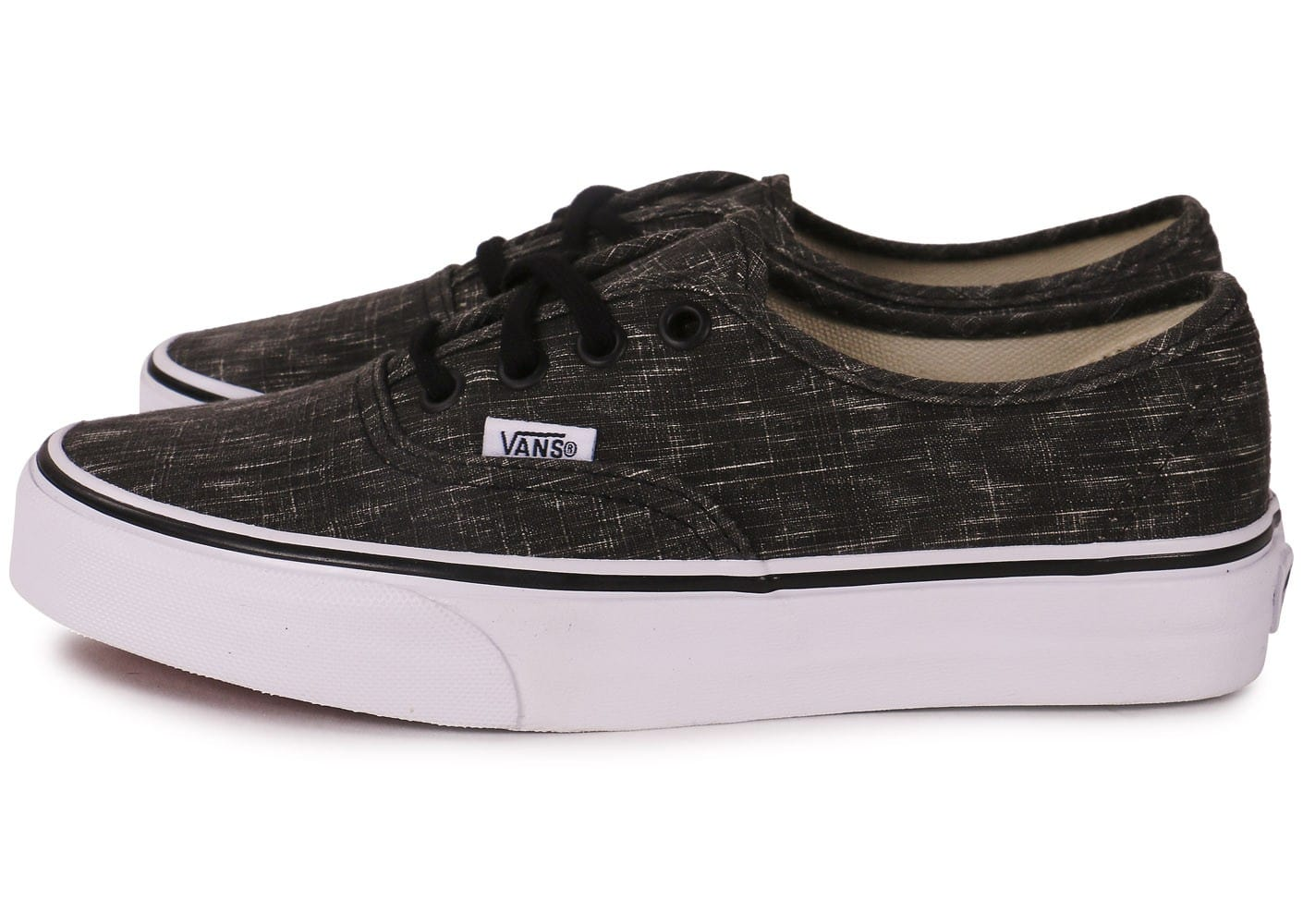 vans authentic noir et blanc chaussures chaussures chausport. Black Bedroom Furniture Sets. Home Design Ideas