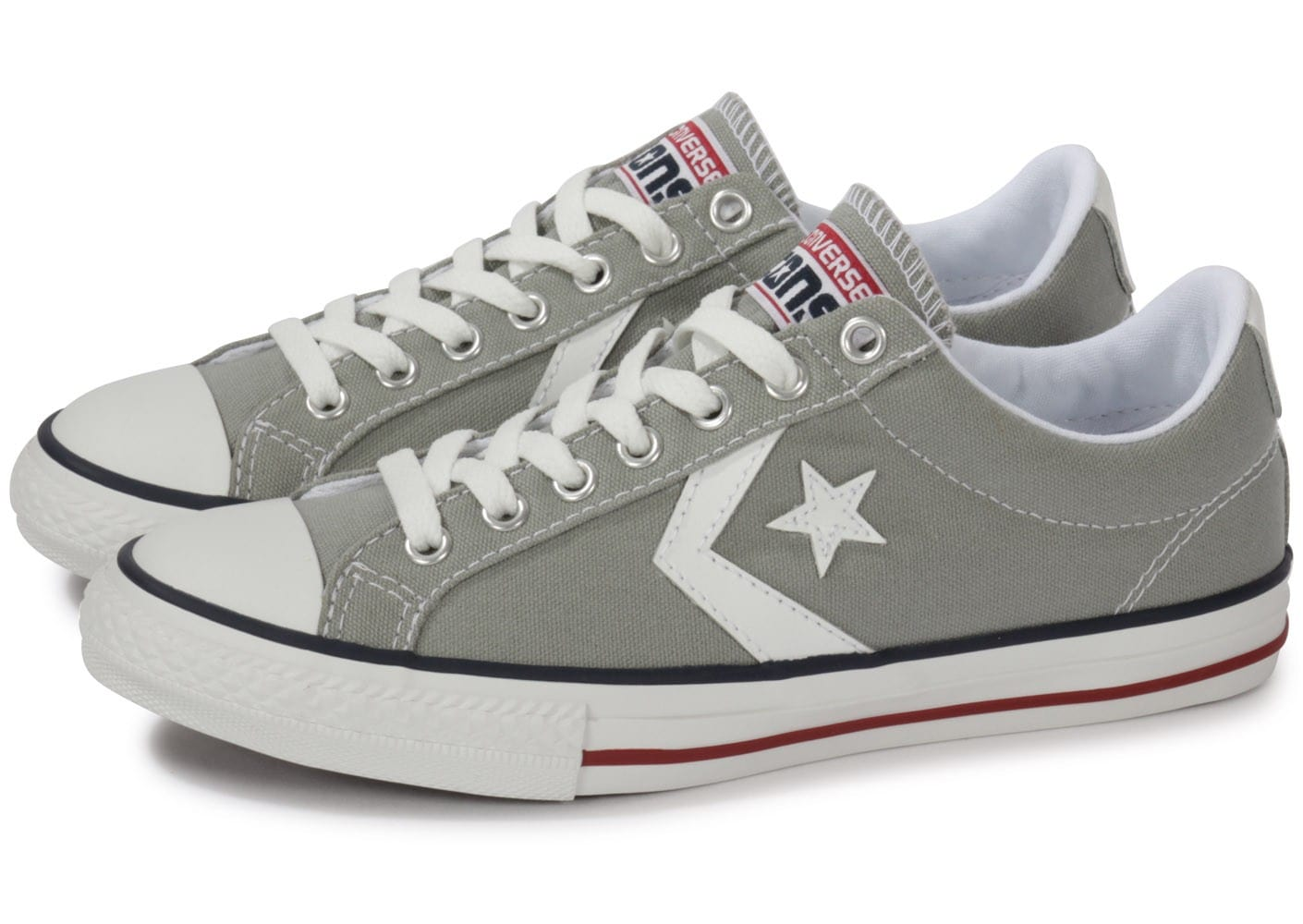 converse grise basse homme