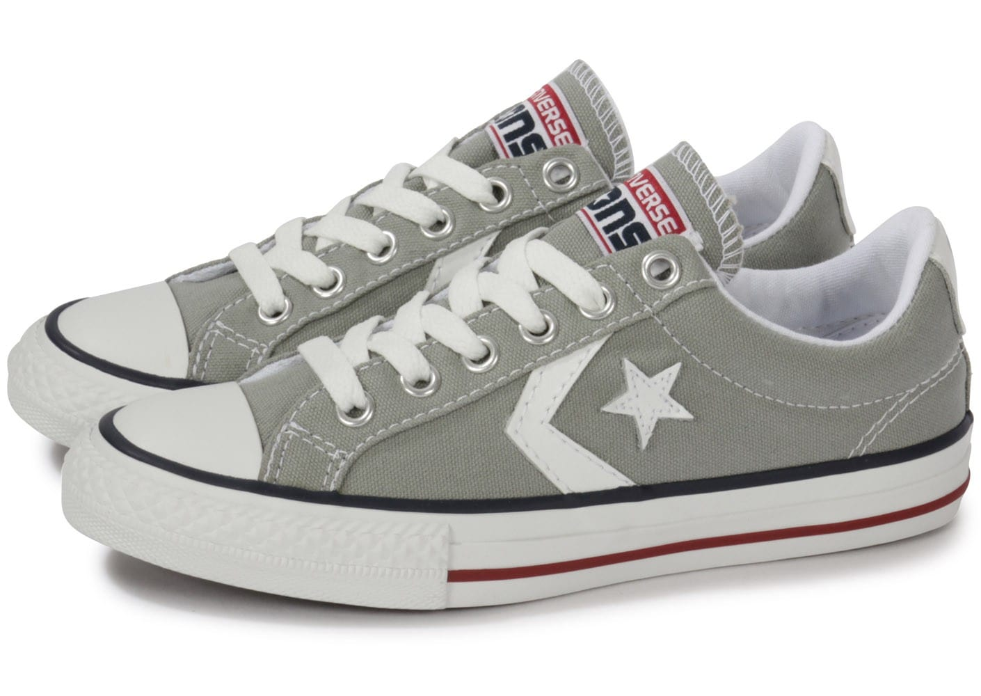 converse star player enfant grise chaussures chaussures chausport. Black Bedroom Furniture Sets. Home Design Ideas
