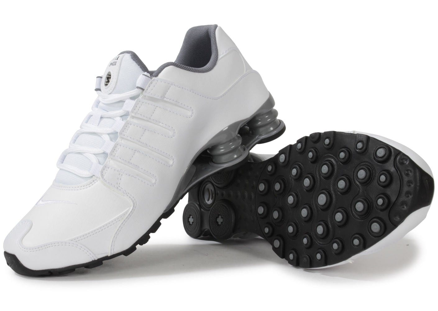 huge selection of 60c9c ae0da chaussures nike shox nz blanche vue dessous semelle