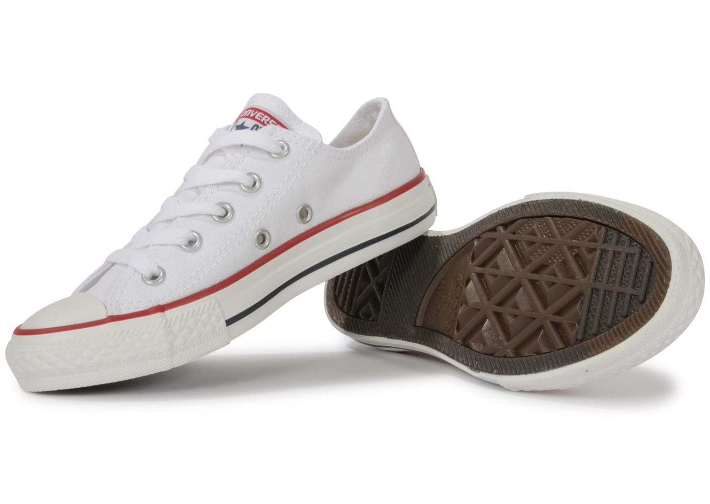 converse chuck taylor all star enfant basse blanche chaussures pour coll giens chausport. Black Bedroom Furniture Sets. Home Design Ideas