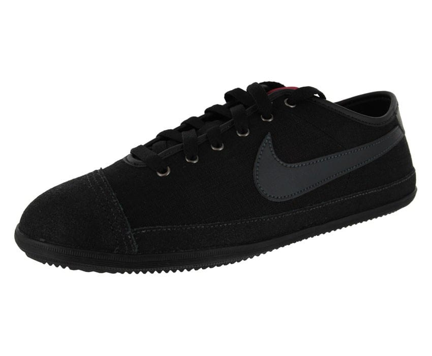 nike flash toile noire chaussures homme chausport. Black Bedroom Furniture Sets. Home Design Ideas