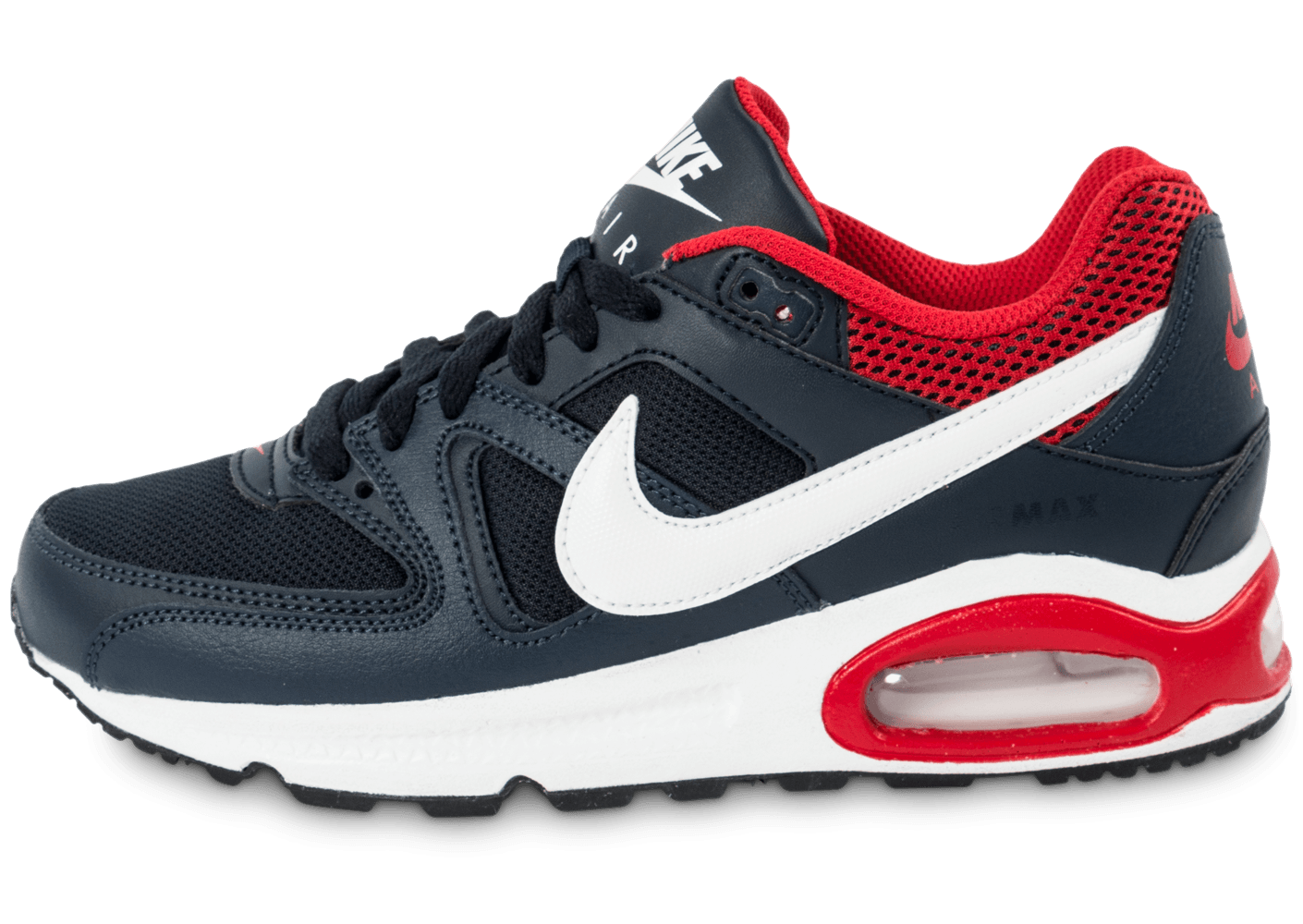 nike air max command junior bleu marine et rouge chaussures chaussures chausport. Black Bedroom Furniture Sets. Home Design Ideas