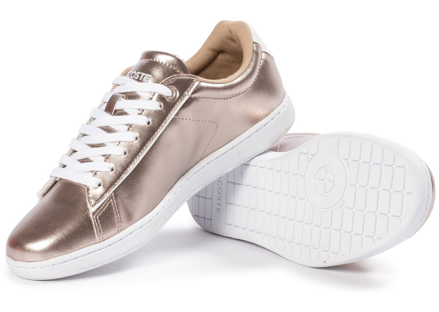 Lacoste carnaby evo or chaussures chaussures chausport - Lacoste carnaby evo cls baskets en cuir perfore ...