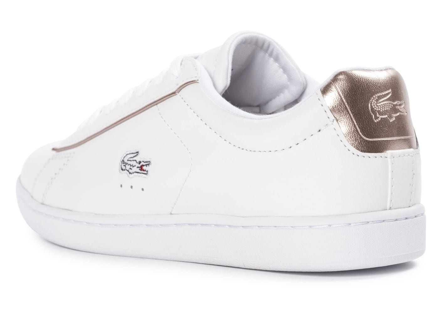 Lacoste carnaby evo blanche chaussures chaussures - Lacoste carnaby evo cls baskets en cuir perfore ...
