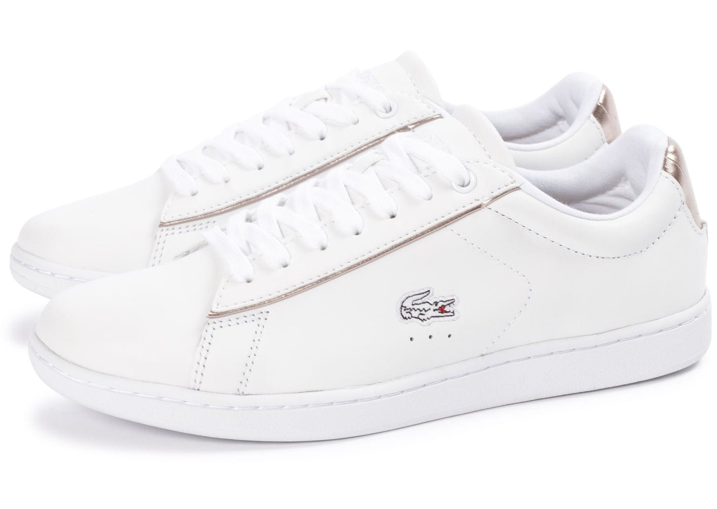 Lacoste carnaby evo blanche chaussures toutes les - Lacoste carnaby evo cls baskets en cuir perfore ...