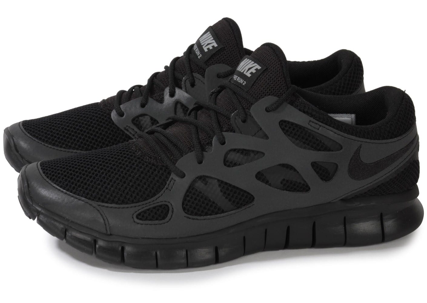 nike free run 2 noire chaussures homme chausport. Black Bedroom Furniture Sets. Home Design Ideas