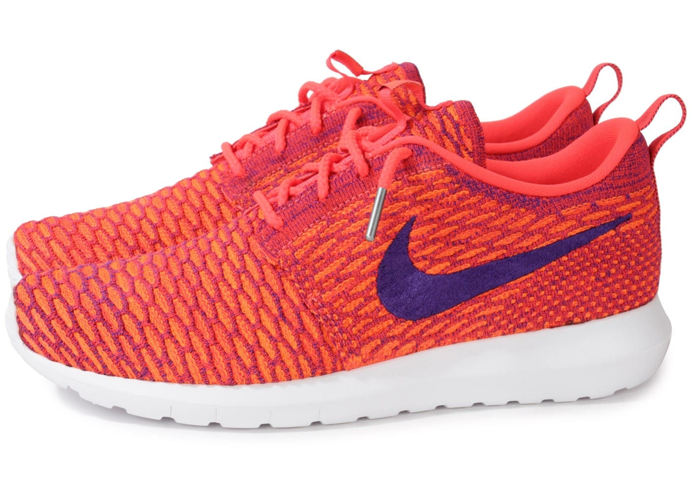 lgdwc Cliquez pour zoomer Chaussures Nike ROSHE RUN FLYKNIT BRIGHT CRIMSON vue