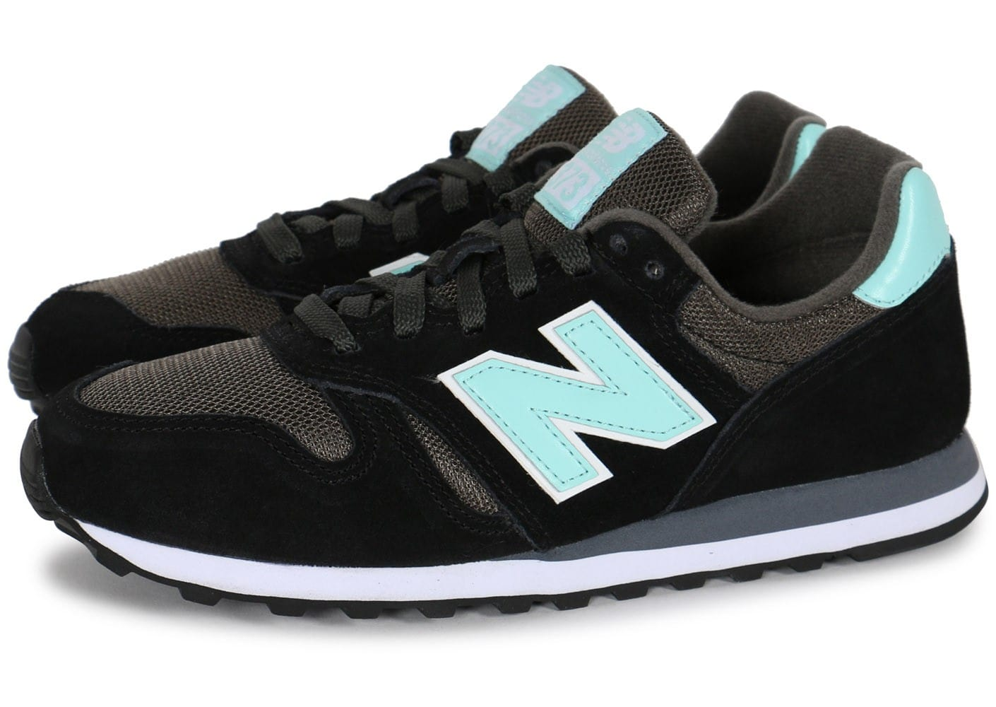 new balance w373 noire turquoise chaussures chaussures chausport. Black Bedroom Furniture Sets. Home Design Ideas