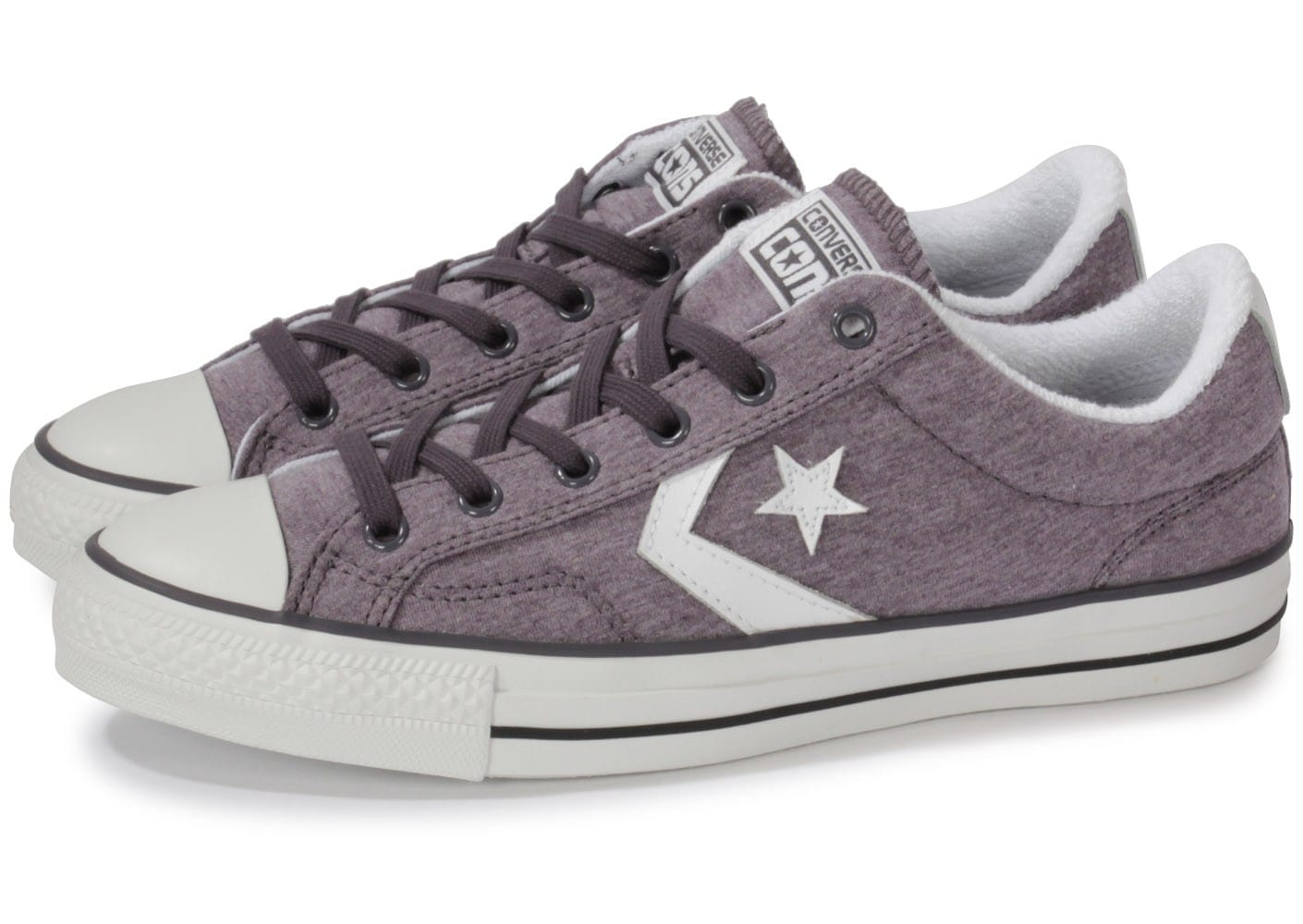 converse star player jersey gris chaussures homme chausport. Black Bedroom Furniture Sets. Home Design Ideas
