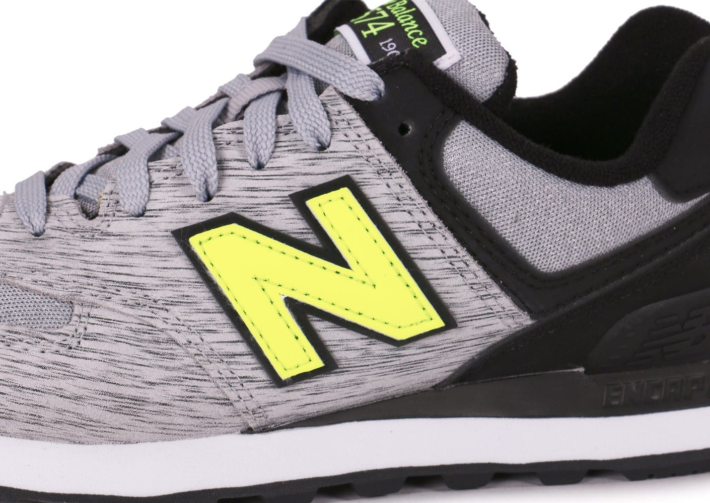 Chaussures New Balance WL574 WTA GRISE vue dessus