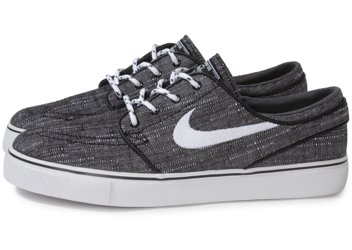 nike zoom stefan janoski canvas grise chaussures homme chausport. Black Bedroom Furniture Sets. Home Design Ideas