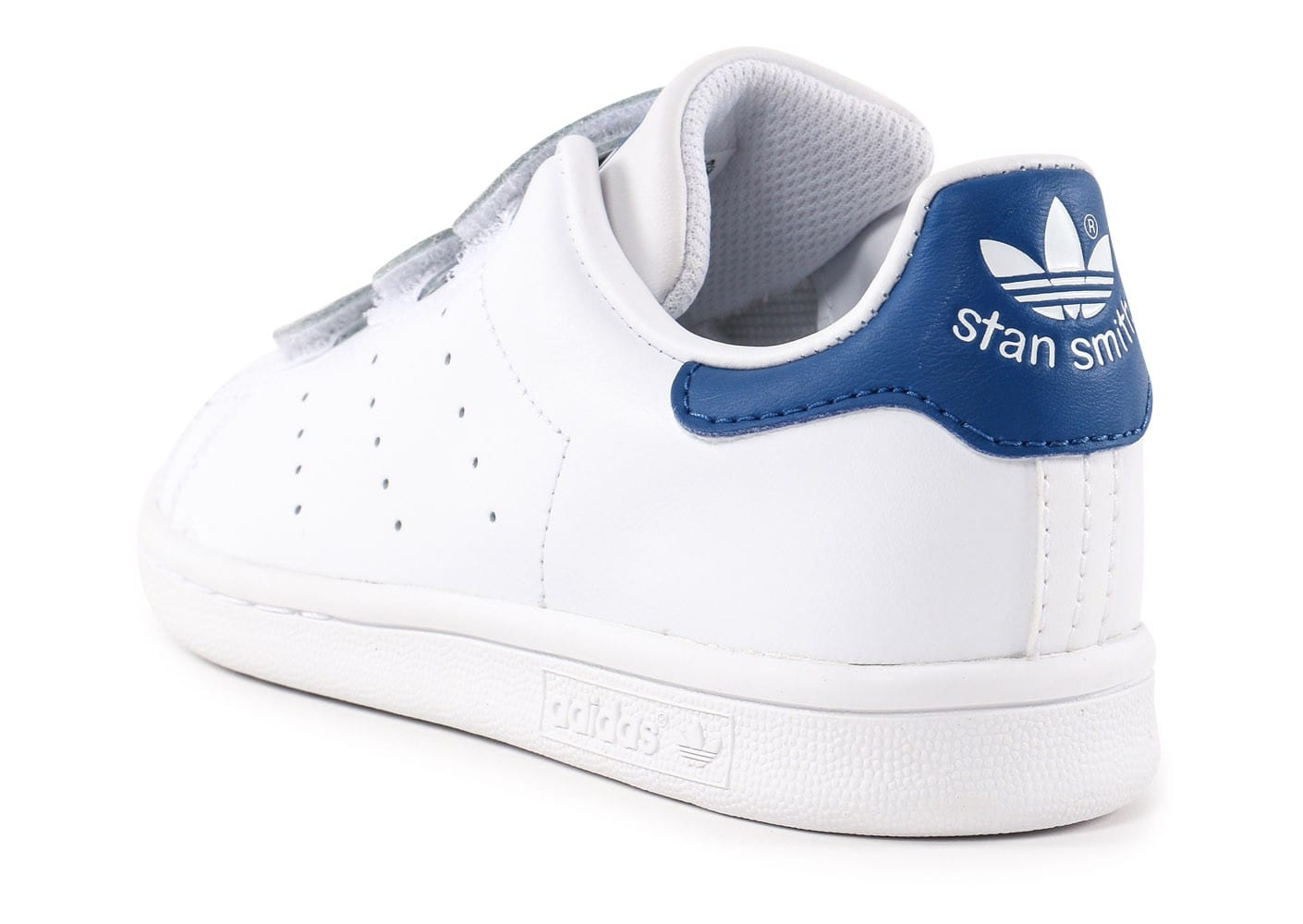 adidas stan smith enfant blanche et bleue chaussures adidas chausport. Black Bedroom Furniture Sets. Home Design Ideas
