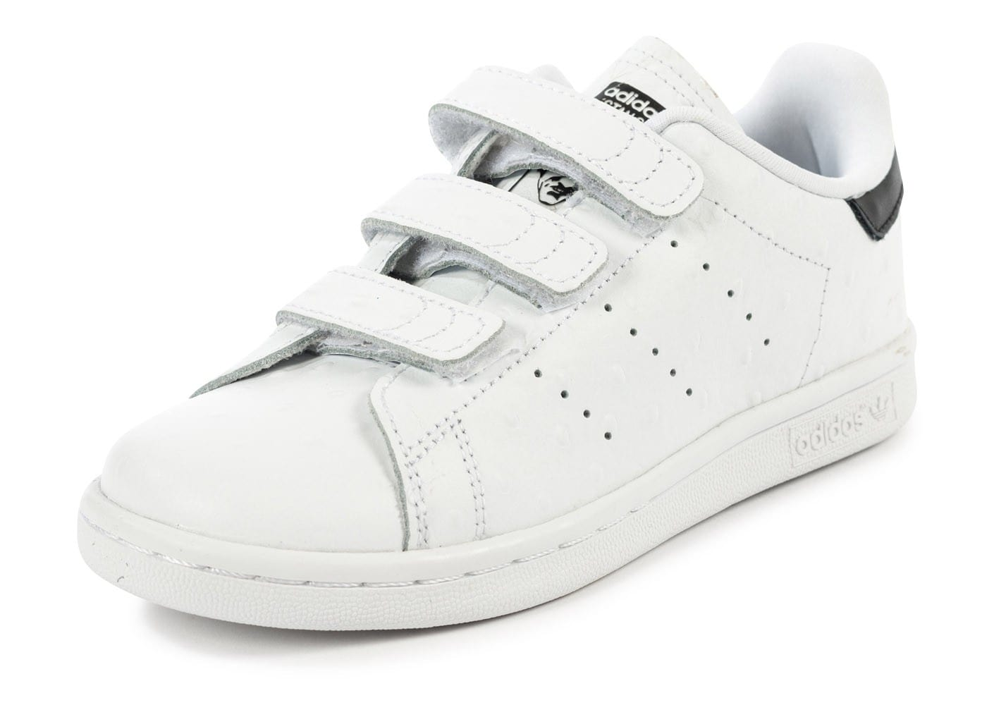 soldes adidas stan smith cf enfant blanche et noire chaussures adidas chausport. Black Bedroom Furniture Sets. Home Design Ideas
