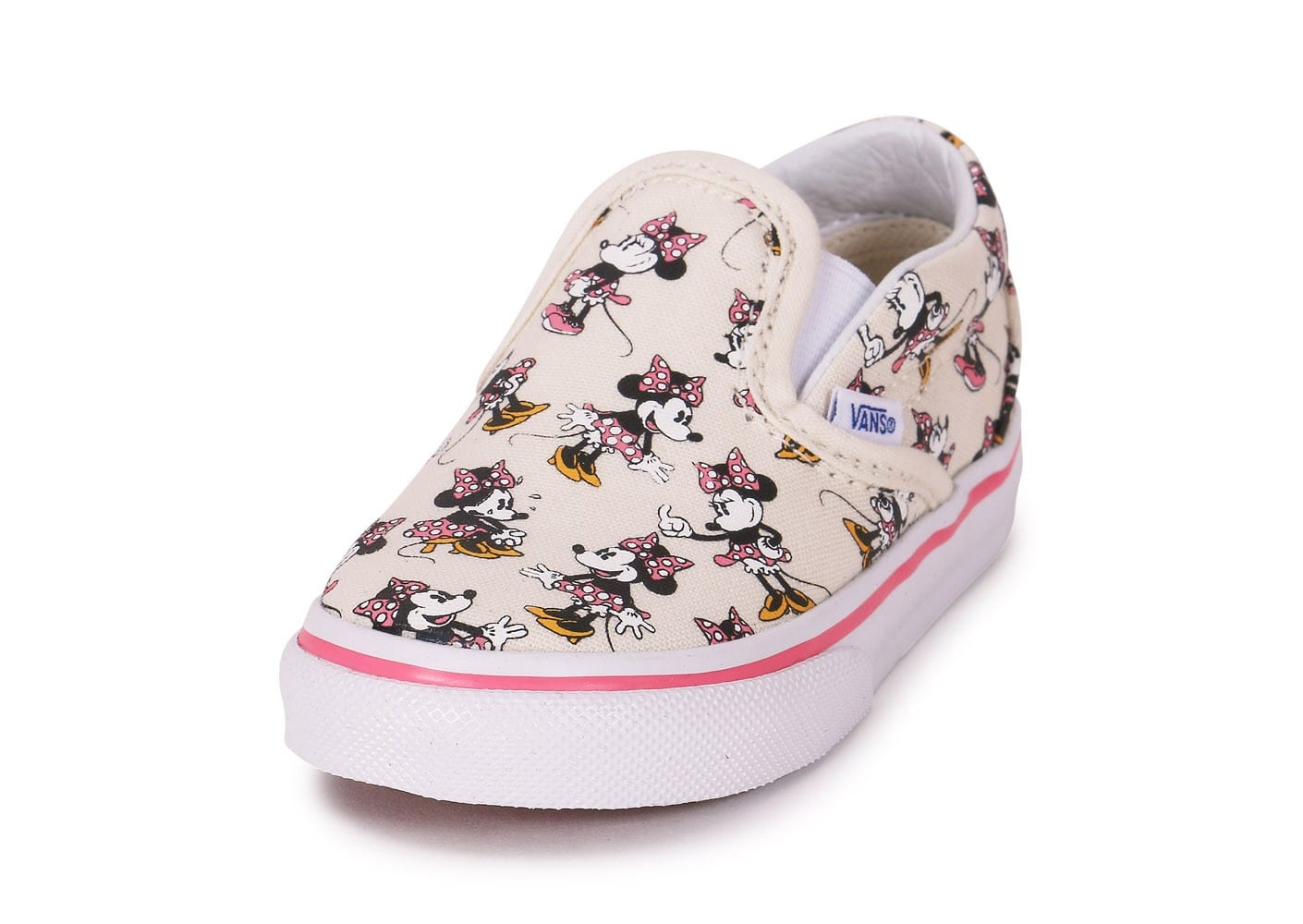 chaussures vans classic slip on disney minnie bb vue arrire