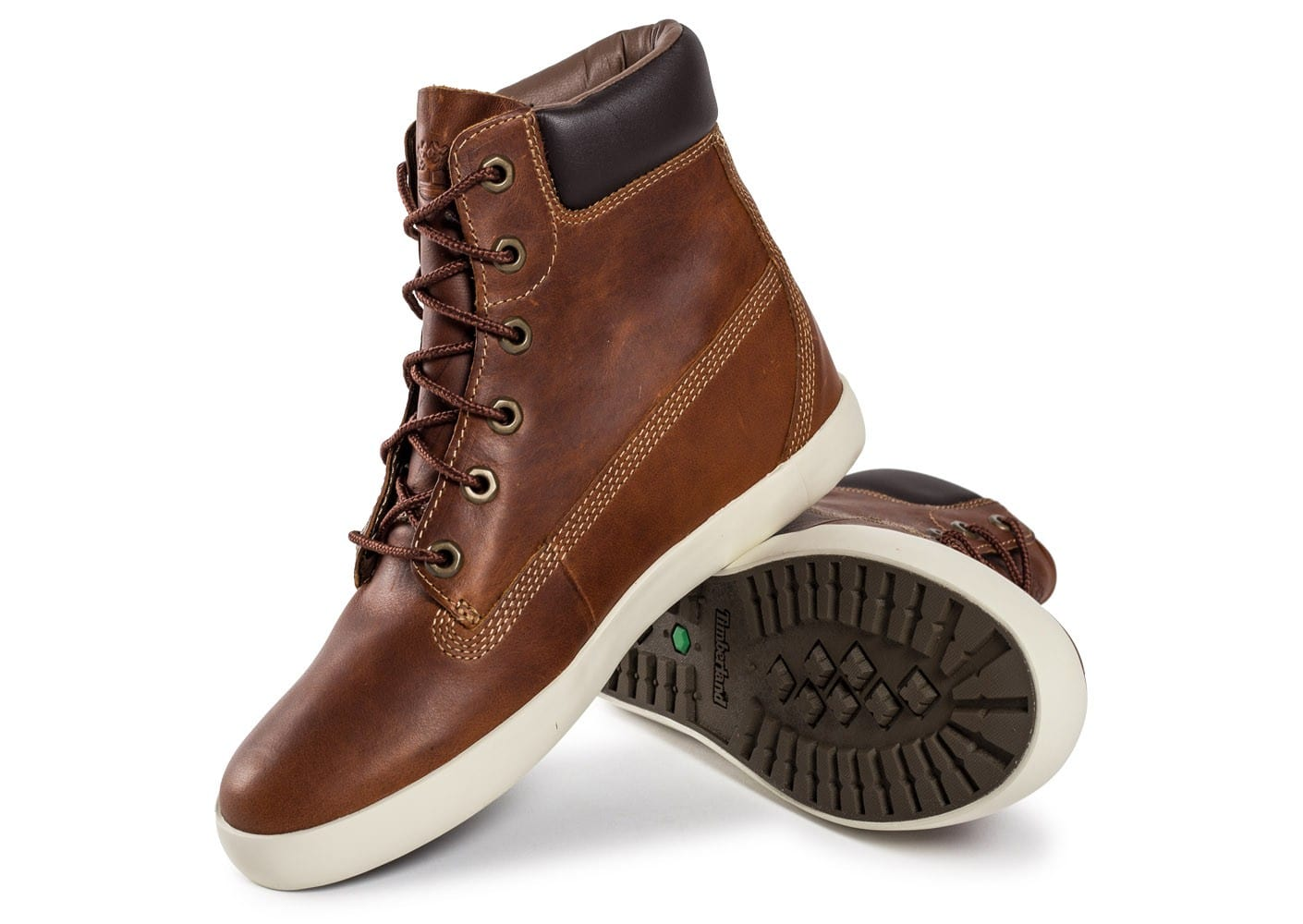 Timberland flannery cuir marron chaussures chaussures chausport - Cuire marron au four ...