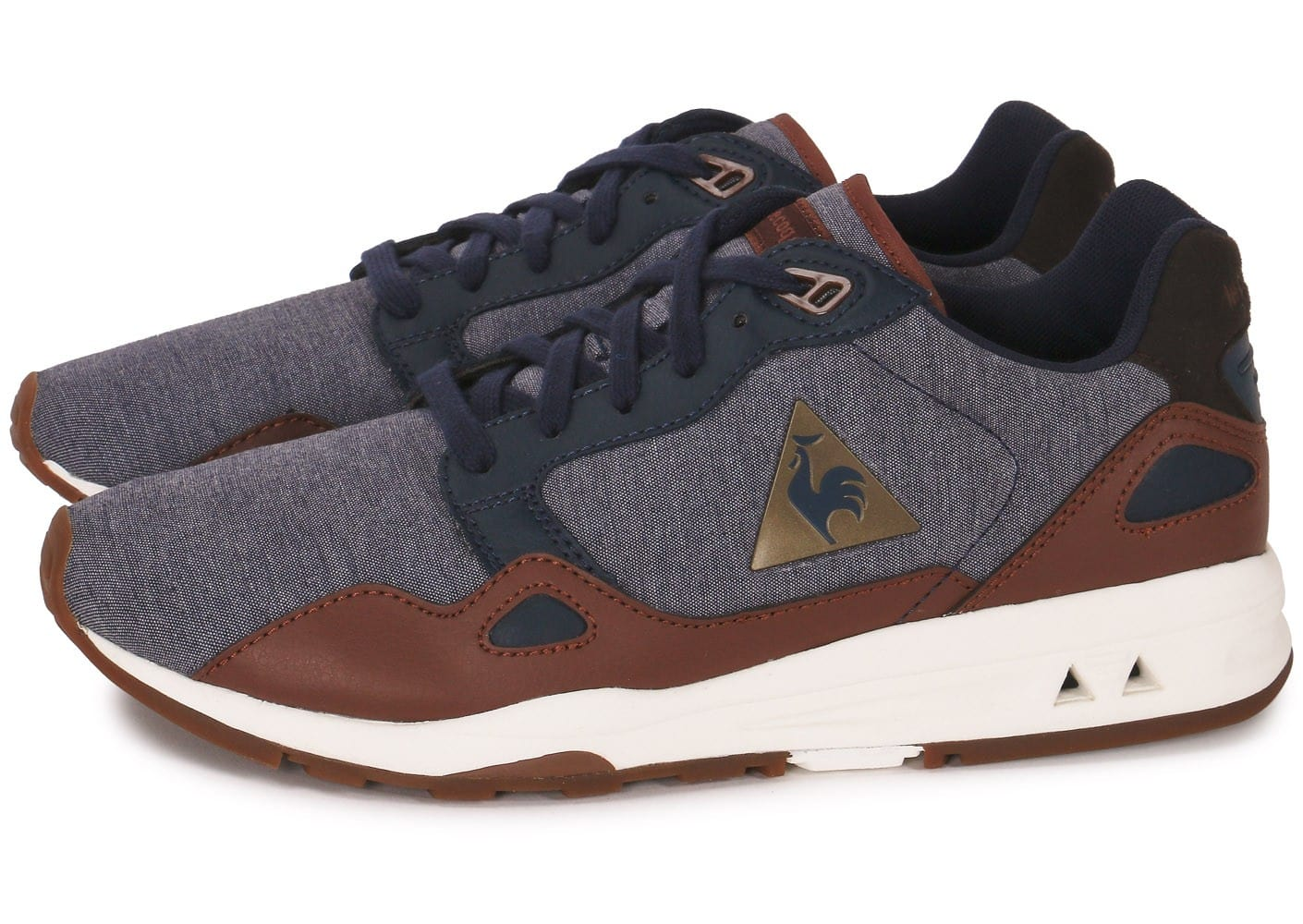 le coq sportif lcs r900 casual bleue chaussures homme chausport. Black Bedroom Furniture Sets. Home Design Ideas