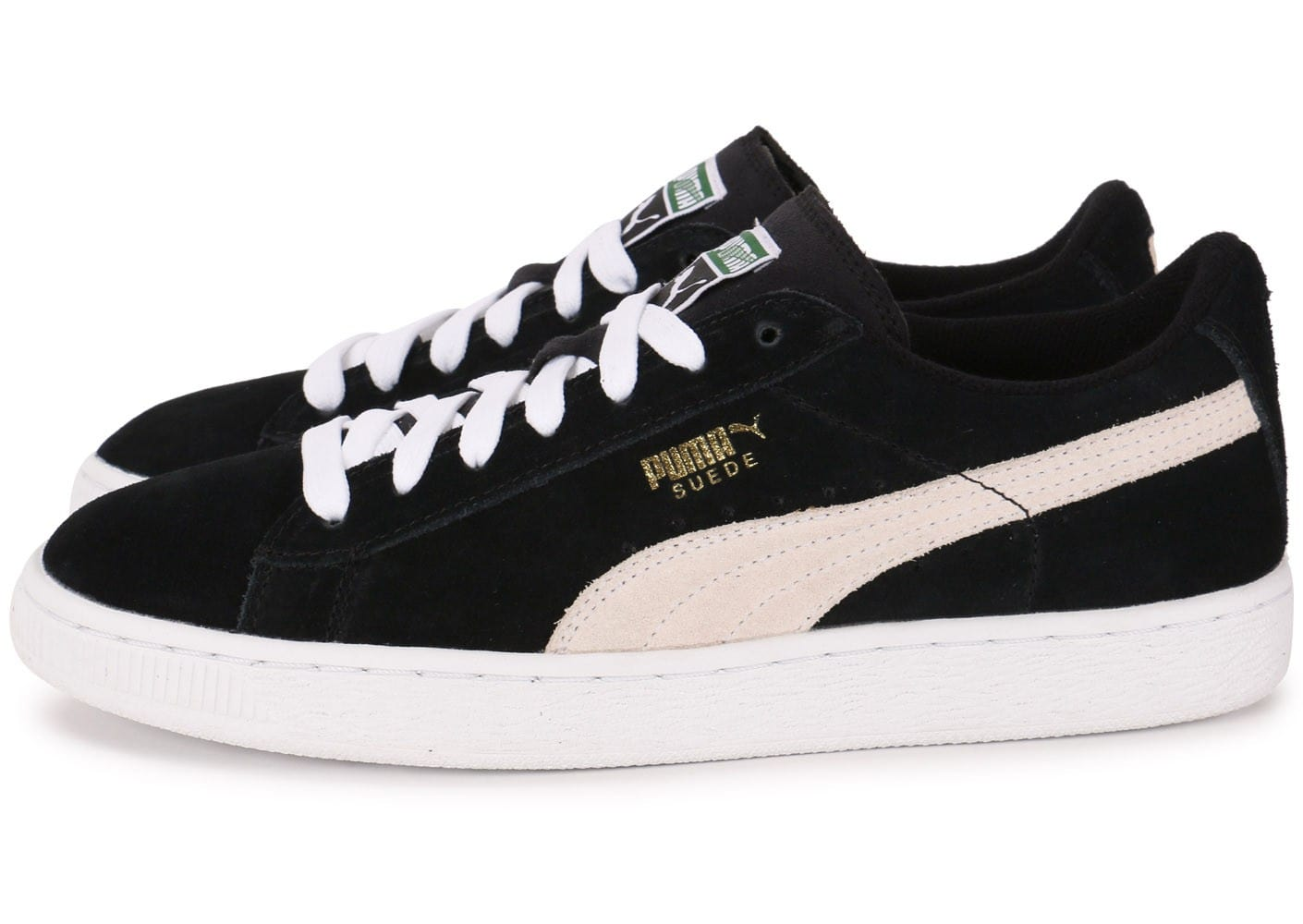 puma suede junior noire chaussures chaussures chausport. Black Bedroom Furniture Sets. Home Design Ideas