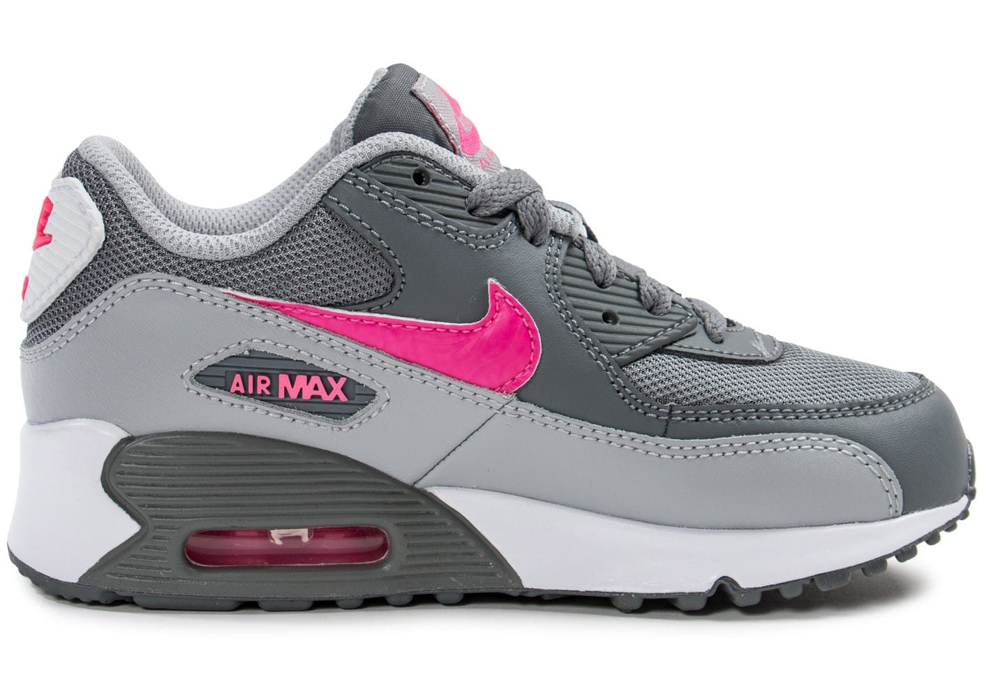 nike air max 90 enfant grise et rose chaussures chaussures chausport. Black Bedroom Furniture Sets. Home Design Ideas