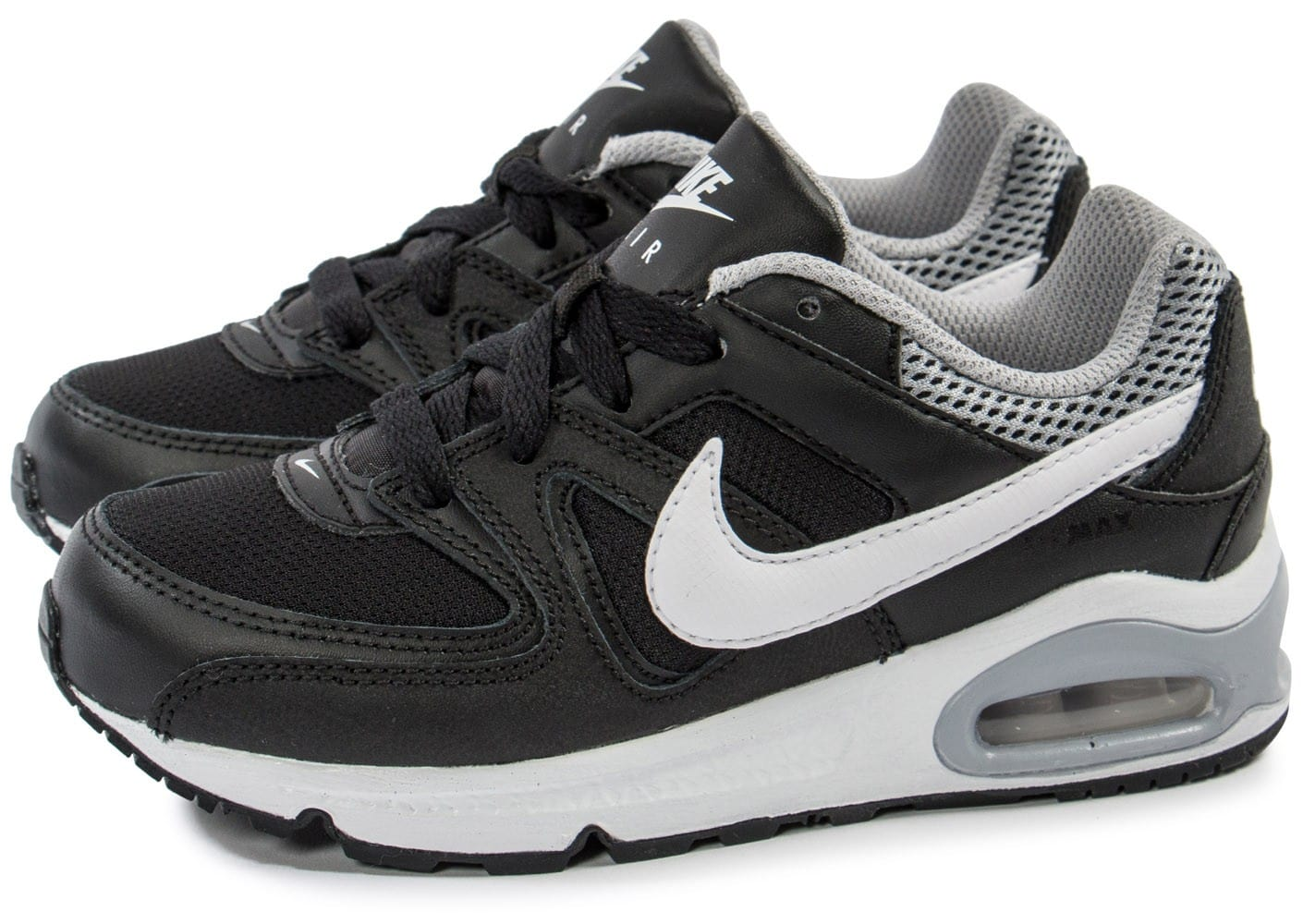 nike air max command enfant cuir noir chaussures chaussures chausport. Black Bedroom Furniture Sets. Home Design Ideas