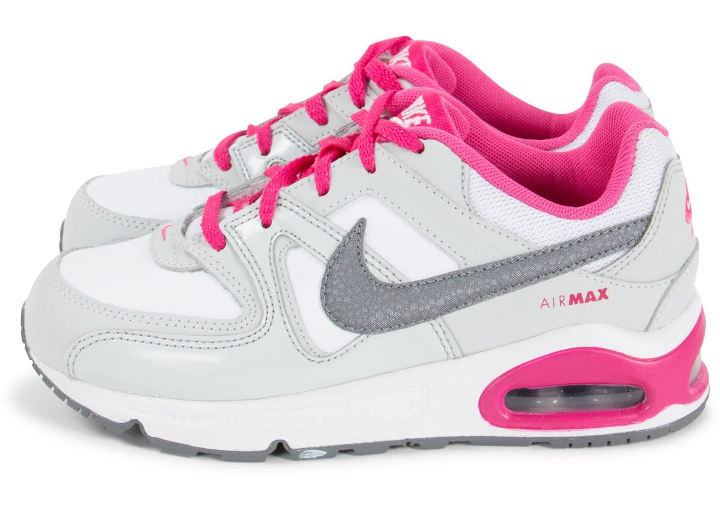 nike air max command enfant argent et fuchsia chaussures chaussures chausport. Black Bedroom Furniture Sets. Home Design Ideas