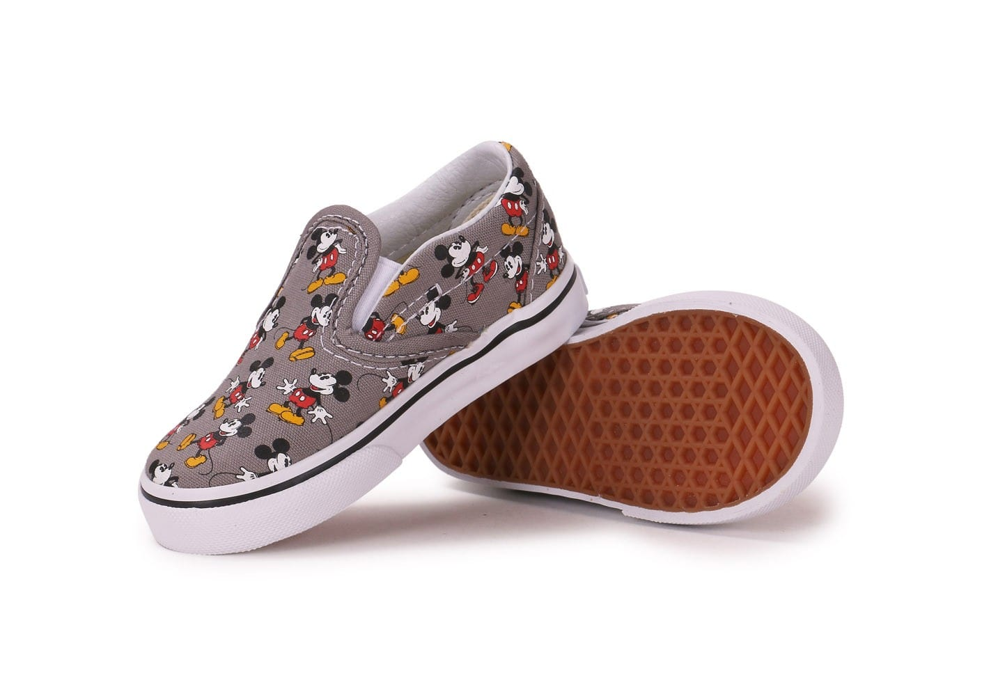 vans classic slip on mickey b b grise chaussures chaussures chausport. Black Bedroom Furniture Sets. Home Design Ideas