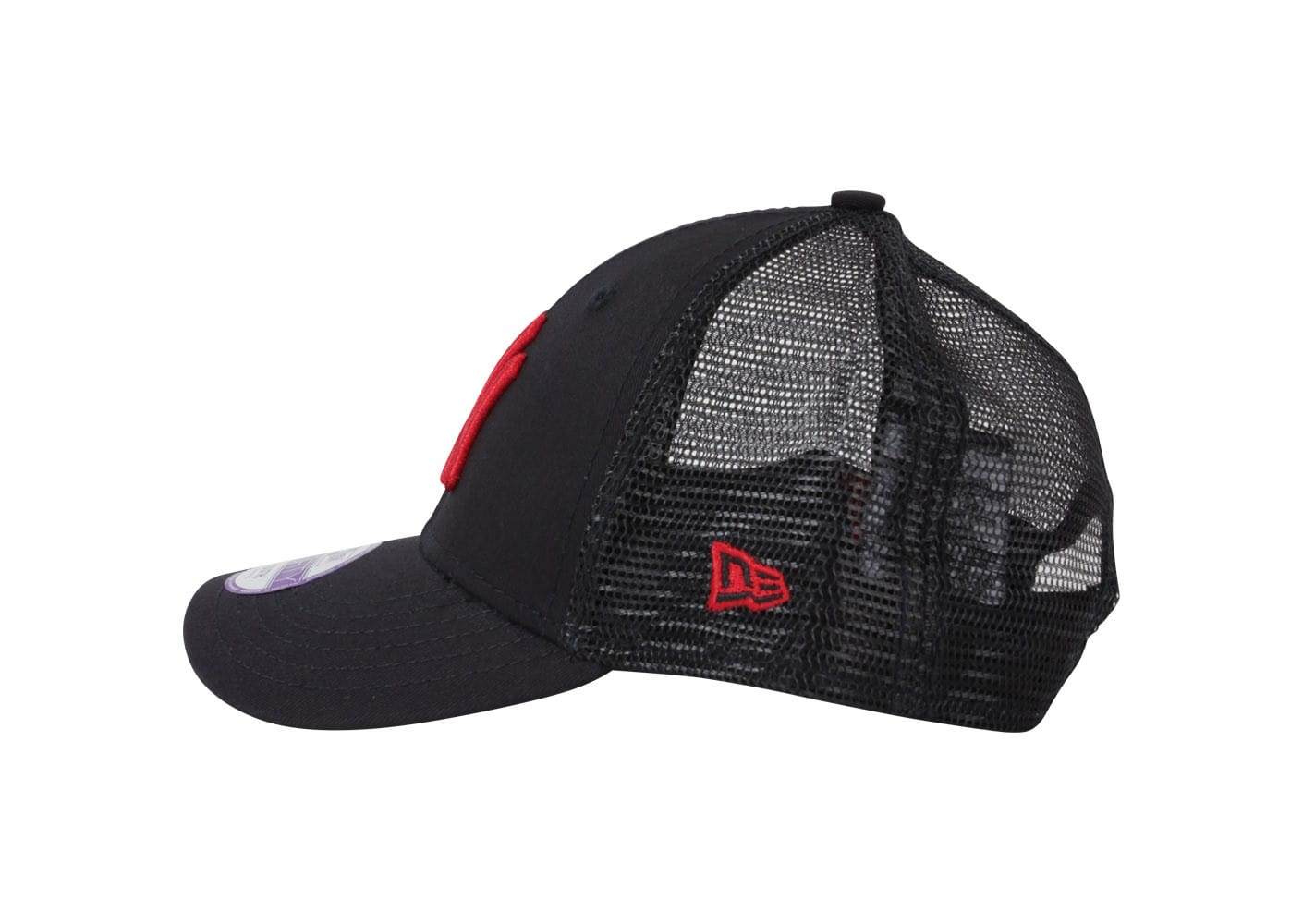 new era casquette trucker ny mesh bleu marine rouge casquettes chausport. Black Bedroom Furniture Sets. Home Design Ideas