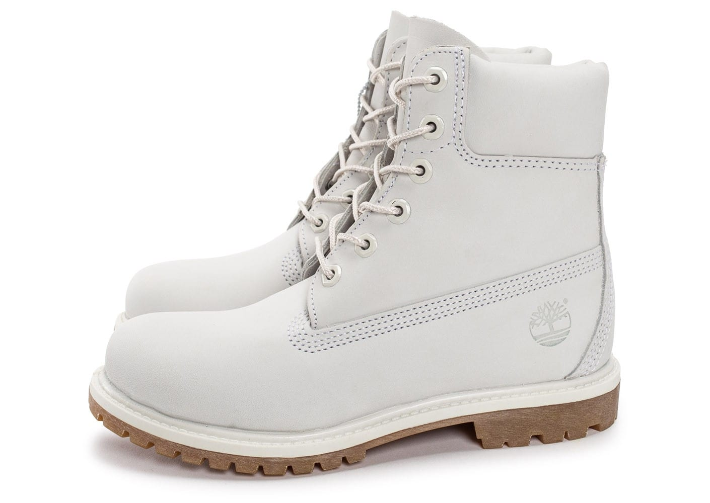 timberland 6 inch premium boots blanche chaussures femme chausport. Black Bedroom Furniture Sets. Home Design Ideas