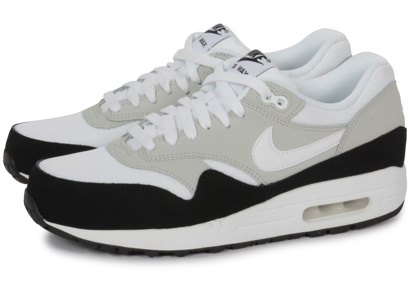 nike air max 1 blanche chaussures homme chausport. Black Bedroom Furniture Sets. Home Design Ideas