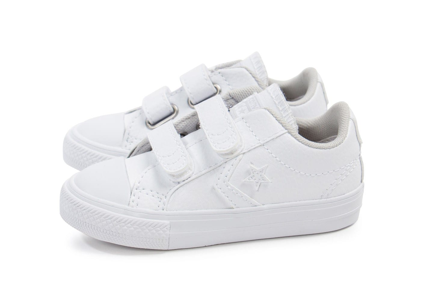 converse star player b b cuir blanche chaussures toutes les baskets sold es chausport. Black Bedroom Furniture Sets. Home Design Ideas