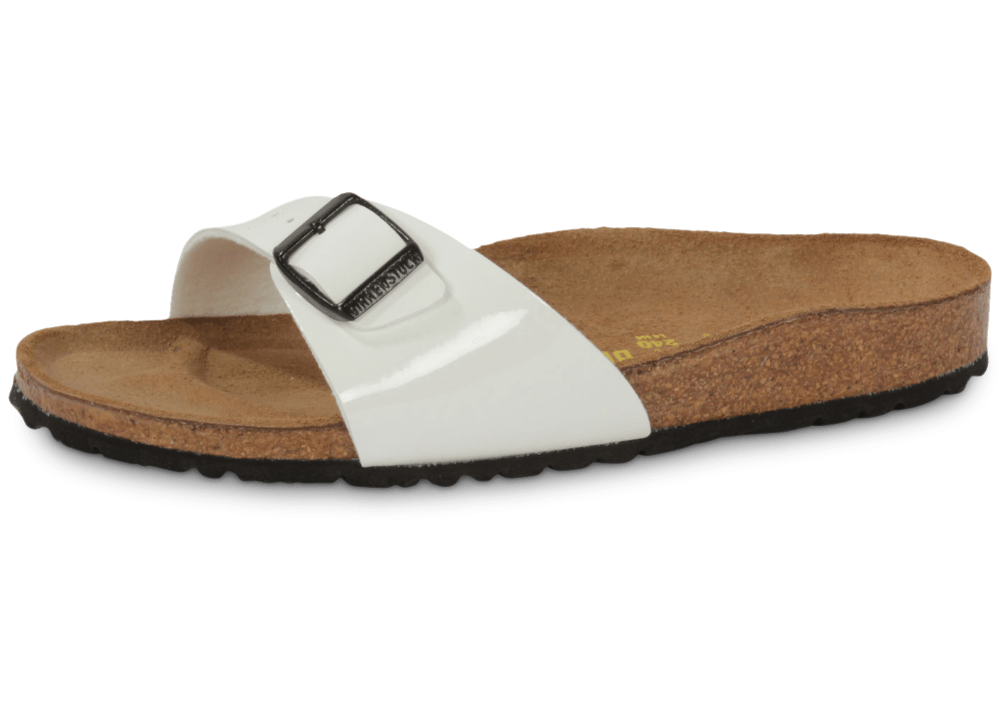 birkenstock madrid vernis blanc chaussures femme chausport. Black Bedroom Furniture Sets. Home Design Ideas