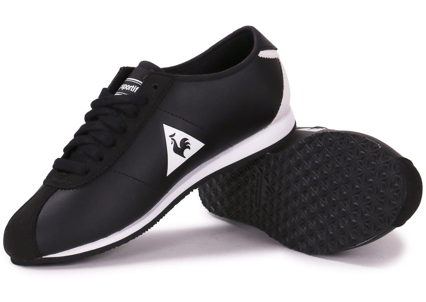 le coq sportif wendon noire et blanche chaussures toutes les baskets sold es chausport. Black Bedroom Furniture Sets. Home Design Ideas