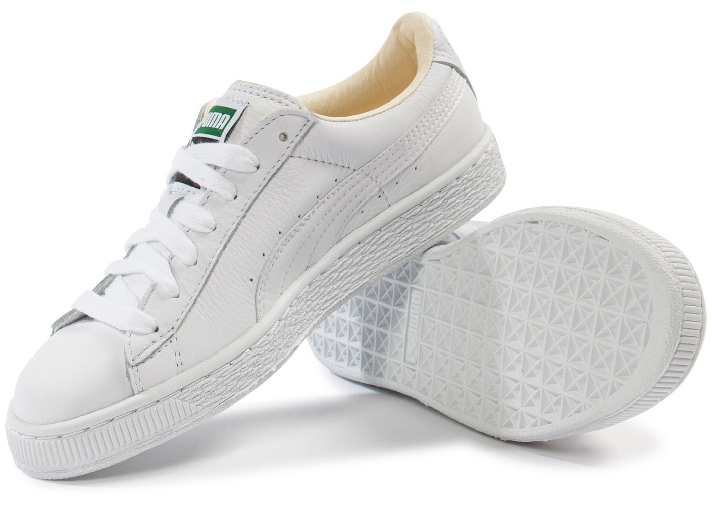 puma basket classic cuir blanche chaussures 50 sur le 2e article chausport. Black Bedroom Furniture Sets. Home Design Ideas