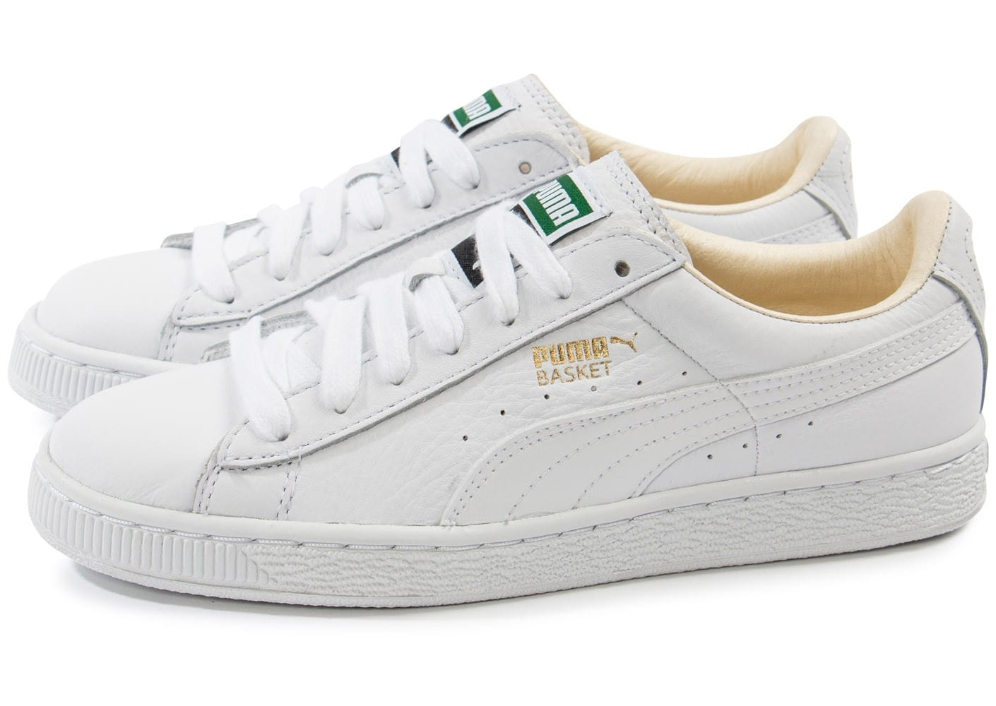 puma basket classic cuir blanche chaussures pour lyc ens chausport. Black Bedroom Furniture Sets. Home Design Ideas